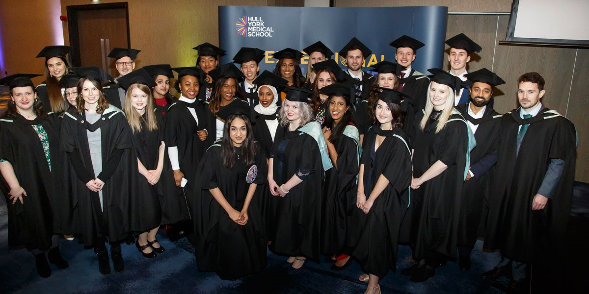 Graduates of the Hull York Medical School MSc Physician Associate Studies programme 2019