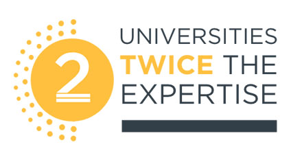 Two universities twice the expertise