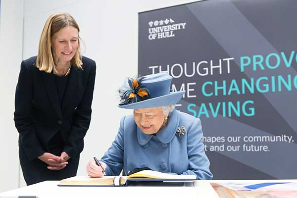 Her Majesty The Queen at the opening of the Allam Medical Building