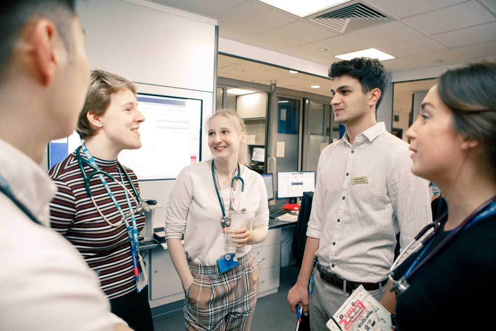 Students on clinical placement in the Emergency Department in Hull Royal Infirmary